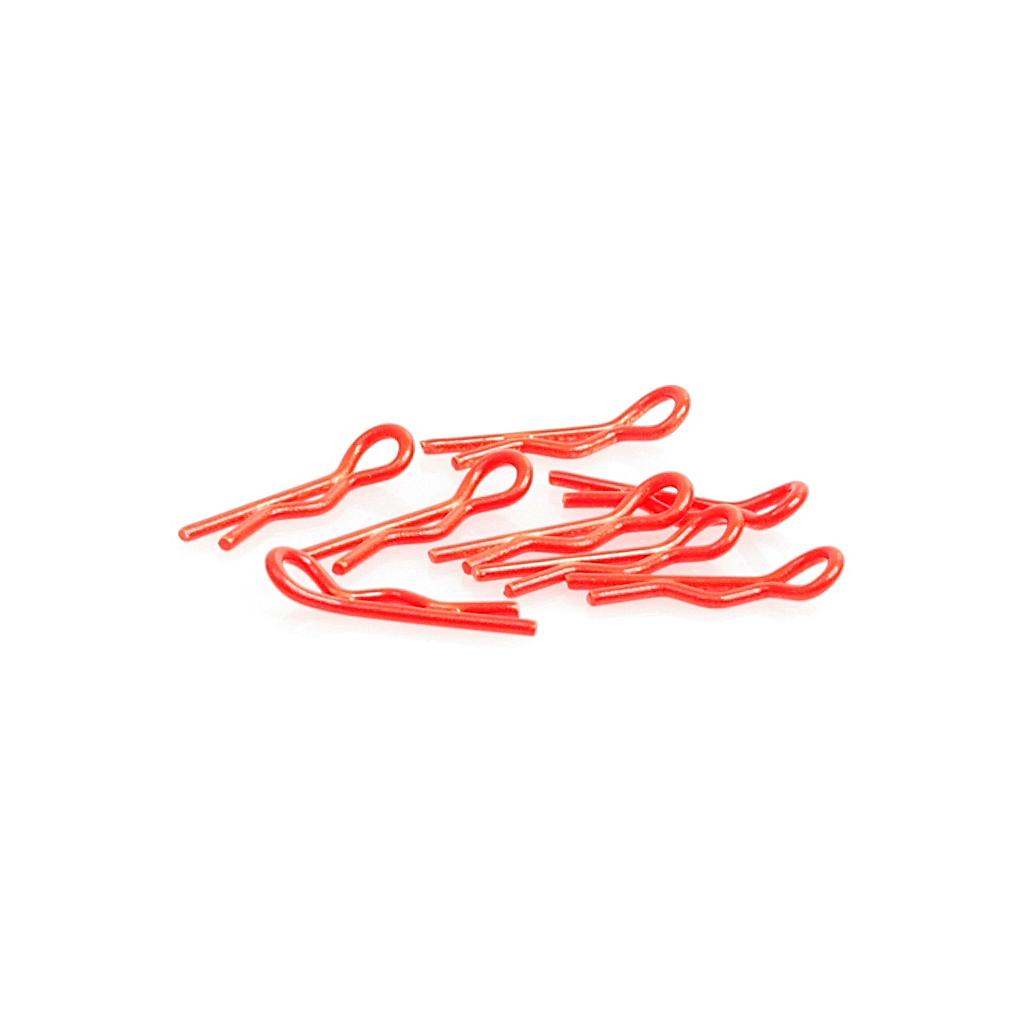 Small Body Clip 1/10 - Fluorescent Red (8)