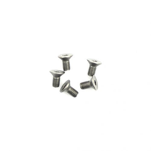 Titanium Csk Hex Screws M3 x 6 pk10