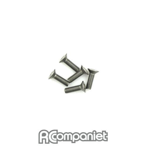 Titanium Csk Hex Screws M3 x 10 pk10