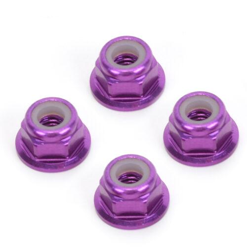 M4 Nyloc Wheel Nut - Purple Alloy (pk4)