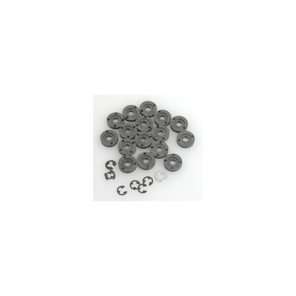 One Piece Shock Pistons - 4 sets of 4