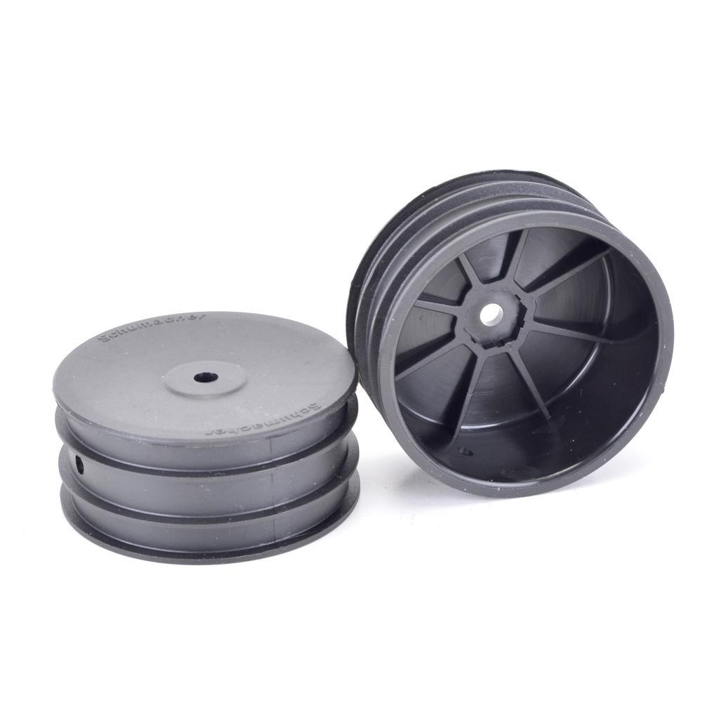 Wheel; Hex Front  - Black - 4wd - pr
