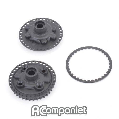 Gear Diff Pulley, Cover and Fence - Mi6/evo