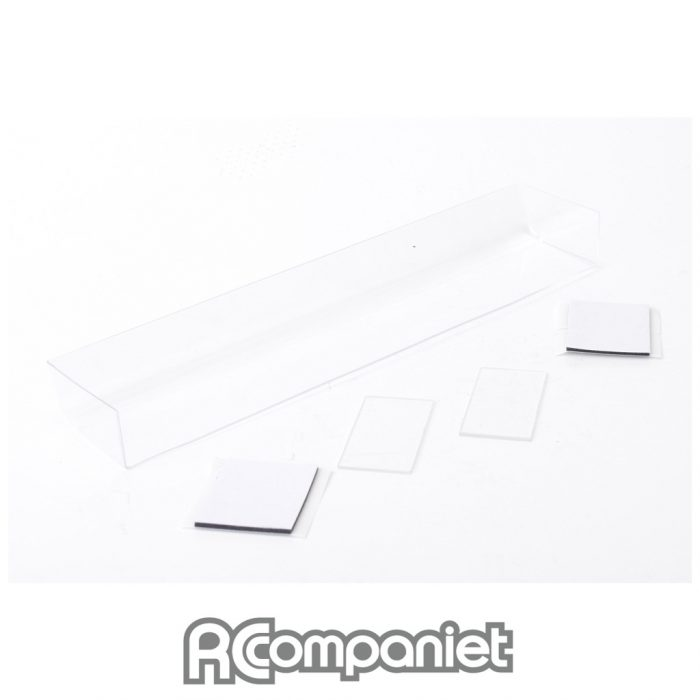 Touring Car Wing + 2 End Plates - Clear
