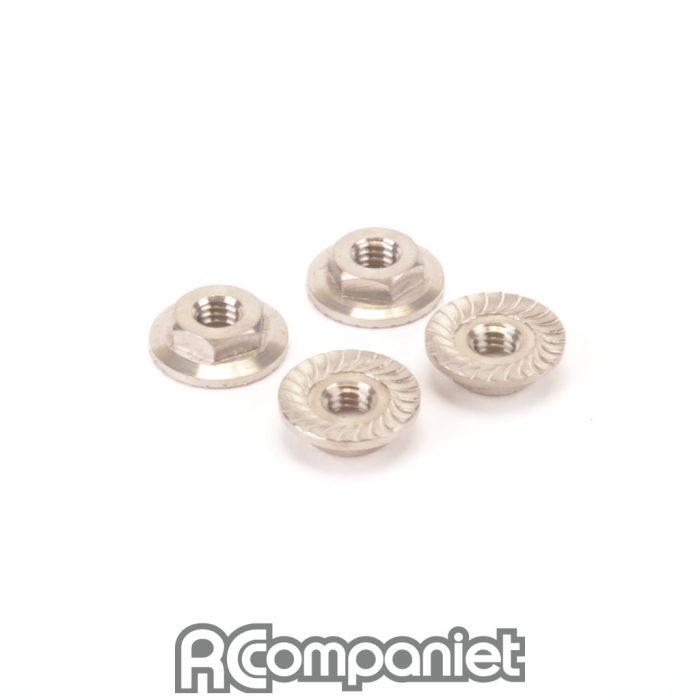 Titanium Low Profile M4 Serrated Nut (pk4)