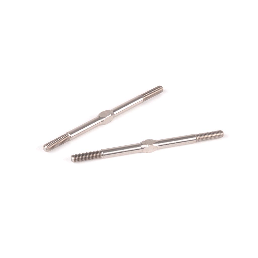 Titanium Turnbuckle - 56mm - Silver - (pr)