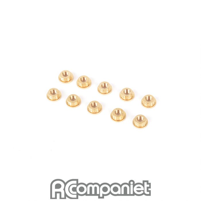 M3 Brass Inserts - pk10
